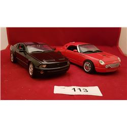 FORD MUSTANG & THUNDERBIRD DIE CAST CARS