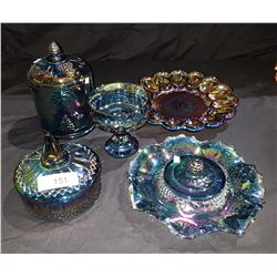 SIX PCS CARNIVAL GLASS