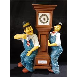 LAUREL & HARDY FIGURAL CLOCK