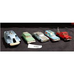LOT OF 5 VINTAGE DINKY & CORGI DIE CAST CARS