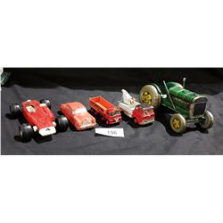 LOT OF 5 VINTAGE LESNEY, DINKY & JAPAN DIE CAST & TIN CARS
