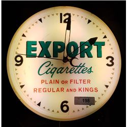 VINTAGE EXPORT CIGARETTES CLOCK