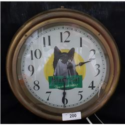 WALL CLOCK W/BLACK CAT MOTIF