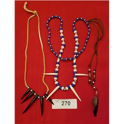 LOT OF 3 NATIVE BEAD NECKLACES