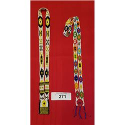 TWO NATIVE BEAD NECKLACES