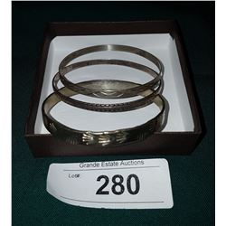 LOT OF 3 STERLING SILVER BANGLES