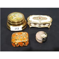 LOT OF 4 VINTAGE JEWELRY BOXES
