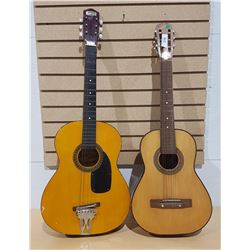 TWO SMALL GUITARS