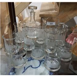 12PC SET TOSCANY HAND BLOWN, HAND CUT CRYSTAL