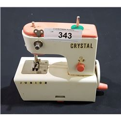 VINTAGE CRYSTAL JUNIOR CHILD'S SEWING MACHINE