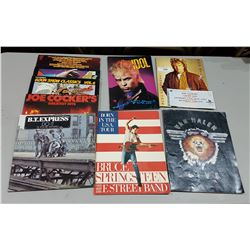 LOT OF COLLECTIBLE ROCK CONCERT PROGRAMS & RECORDS