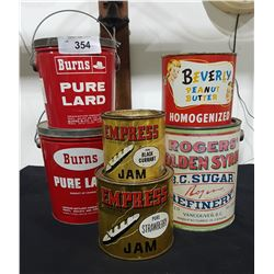 LOT OF 6 VINTAGE COLLECTIBLE TINS
