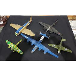LOT OF 5 MODEL FIGHTER PLANES