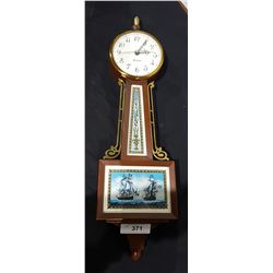 VINTAGE SESSIONS WALL CLOCK W/SHIP MOTIF
