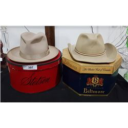 VINTAGE STETSON & BEAVER COWBOY HATS IN BOXES