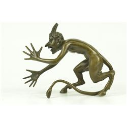 Satyr Chasing Nymph Bronze Sculpture