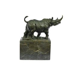 Animal Edition Rhino Bronze Sculpture