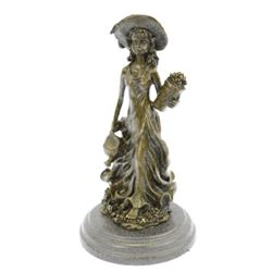 Souther Girl In Garden Bronze Statue
