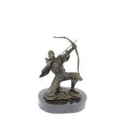 Ancient Samurai Warrior Bronze Sculpture