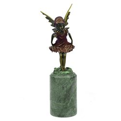Angel Fairy Red Patina Bronze Statue