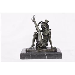 Dancer Bronze Figurine on Marble Base Sculpture