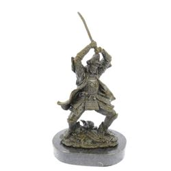 Samurai Warrior Bronze Statue