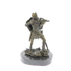 Japanese Warrior Bronze Sculpture