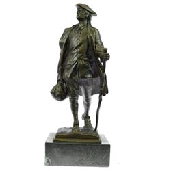 Youthful American Benjamin Franklin Bronze Sculpture