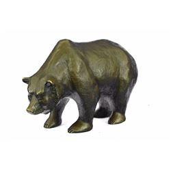 Mother Grizzly Bear Bronze Statue