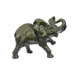 African Elephant Bronze Sculpture
