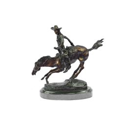 Arizona Cowboy Horse Bronze Sculpture