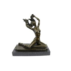 Nude Free Girl Bronze Sculpture