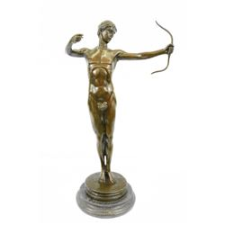 Nude Roman Archer Bronze Sculpture