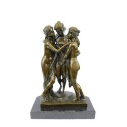 Antonia Canova Three Graces Bronze Sculpture