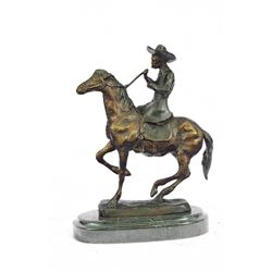 Cowboy Horse Bronze Sculpture
