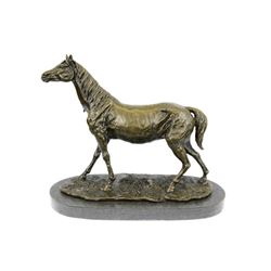 Stallion Racing Horse Trophy Bronze Sculpture
