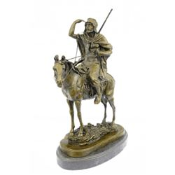 Morrocan Arab Man on Horse Hunter Statue