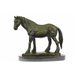 Pony Horse Classic Farm Bronze Sculpture