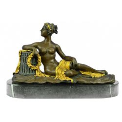 Nude Napoleons Sister Bronze Sculpture on Marble Base Statue