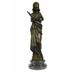 Fortuna Roman Goddess of Luck Lady Tykhe Bronze Statue