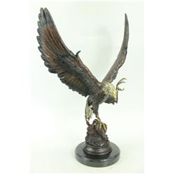 Two Tone American Eagle Bronze Statue
