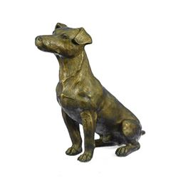Life Size Jack Russell Terrier Dog Bronze Sculpture