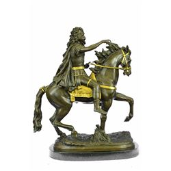 King Louis XV of France on Horseback Bronze Sculpture