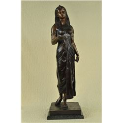 Egyptian Revival Royal princess Bronze Figural