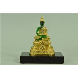 Gold Plexiglases Beautiful Thai Buddha Sculpture