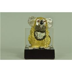 Gold Plexiglases Koala Bear Business Cardholder