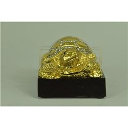 Gold Plexiglases Turtle Business Cardholder