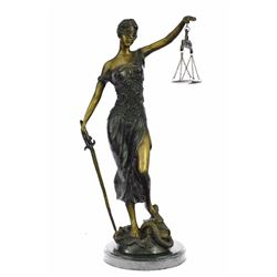 Blind Justice Bronze Sculpture