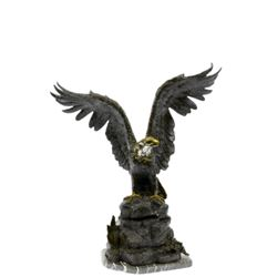 American Bald Eagle Bronze Sculpture
