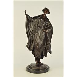 Japanese Belle Bronze Figurine